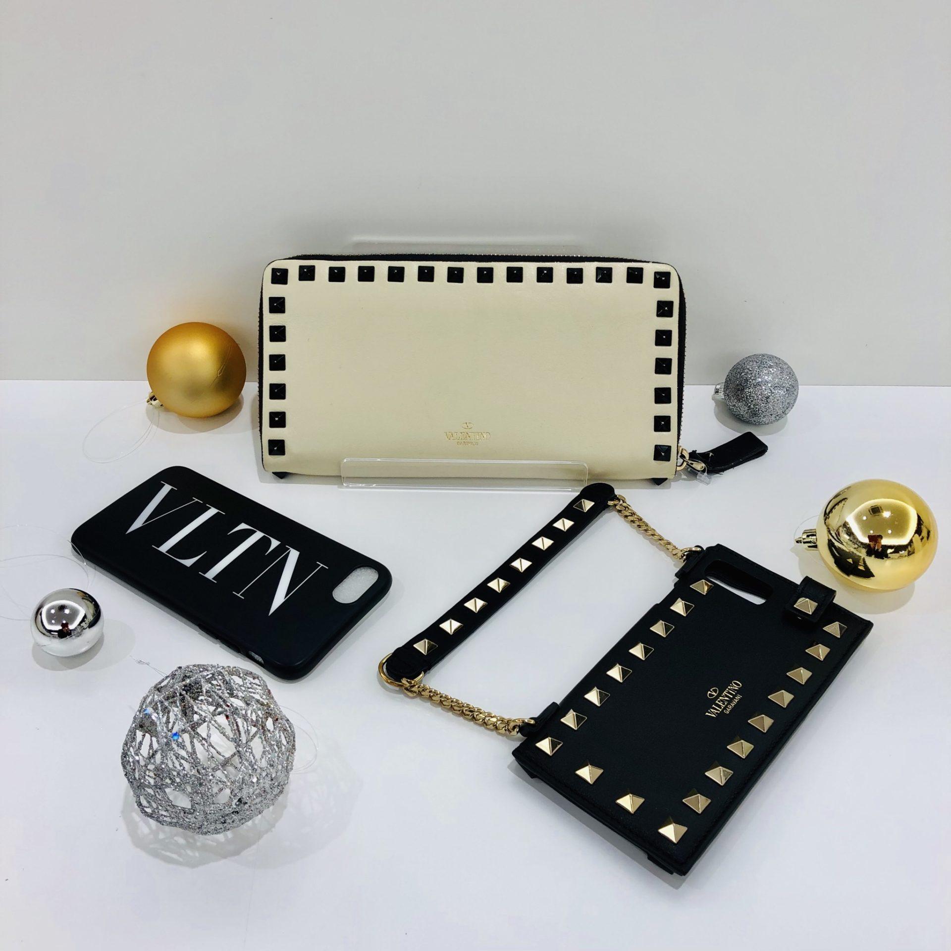 【盛岡 ヴァレンチノ 販売】 iPhoneケース ラウンドファスナー財布
