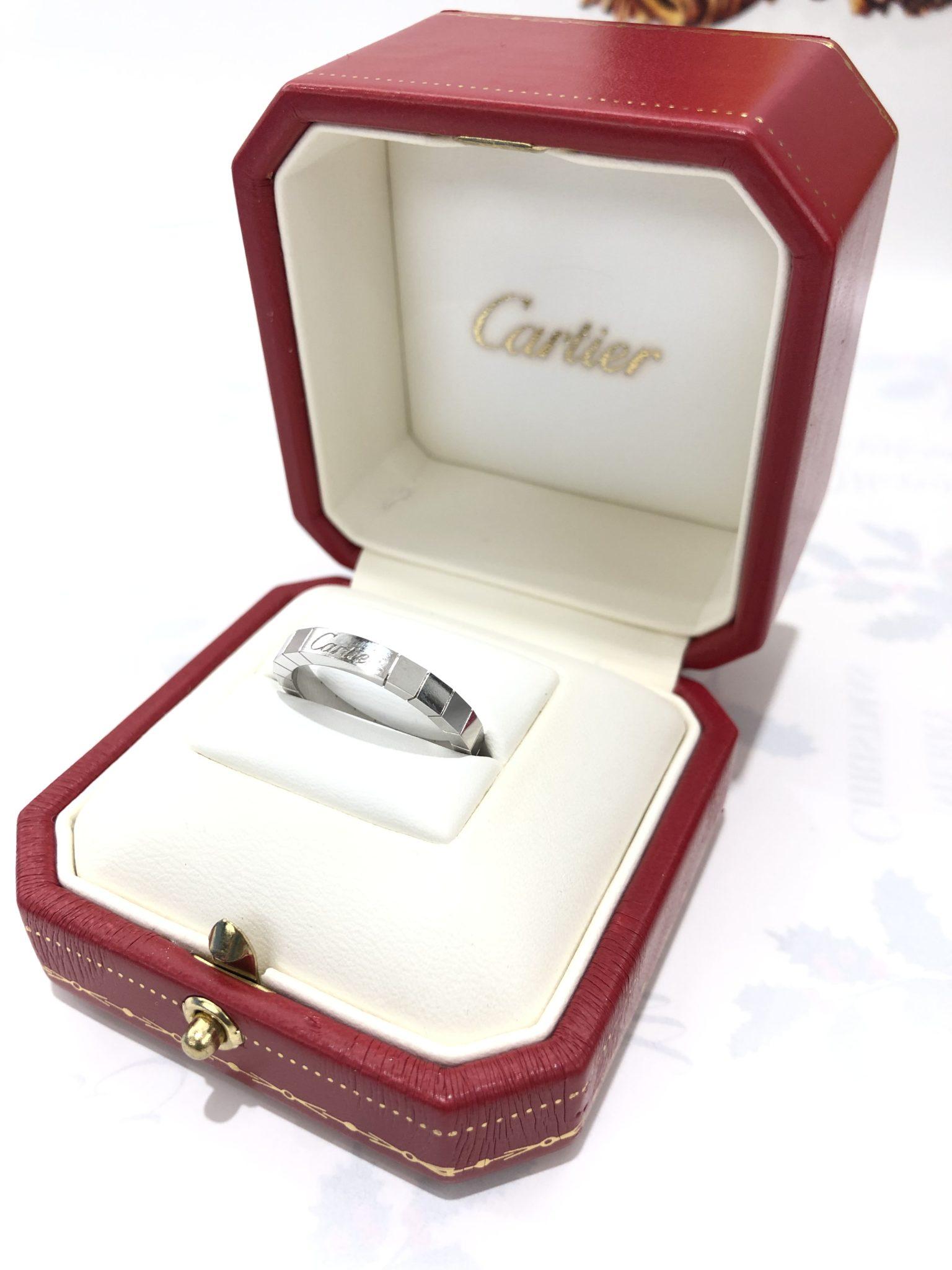 【盛岡Cartier買取】Cartier K18WG ラニエールリング