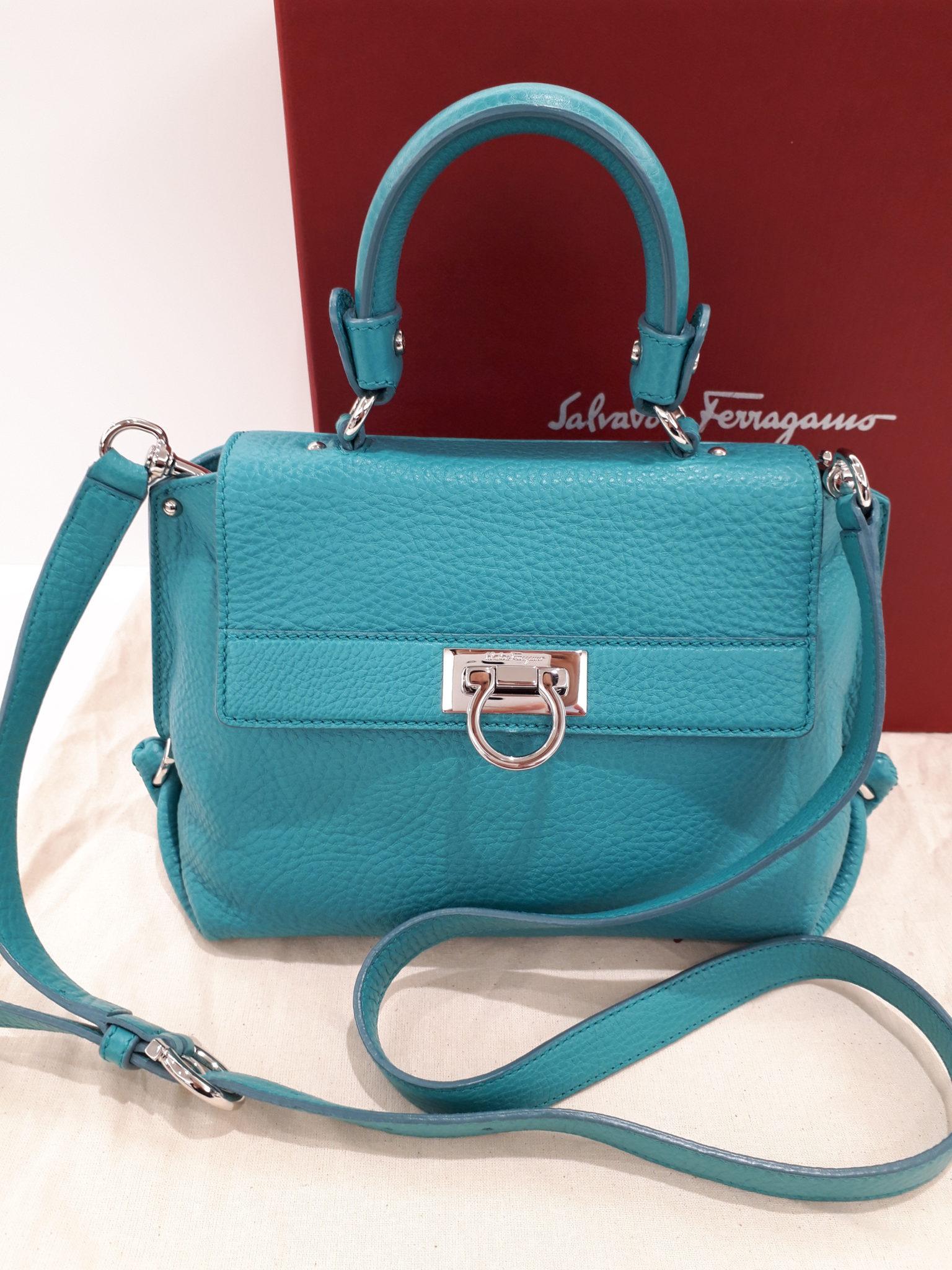【Salvatore Feragamo サルヴァトーレ フェラガモ 21-D356】2WAYバッグを盛岡市のお客様よりお買取させて頂きました!