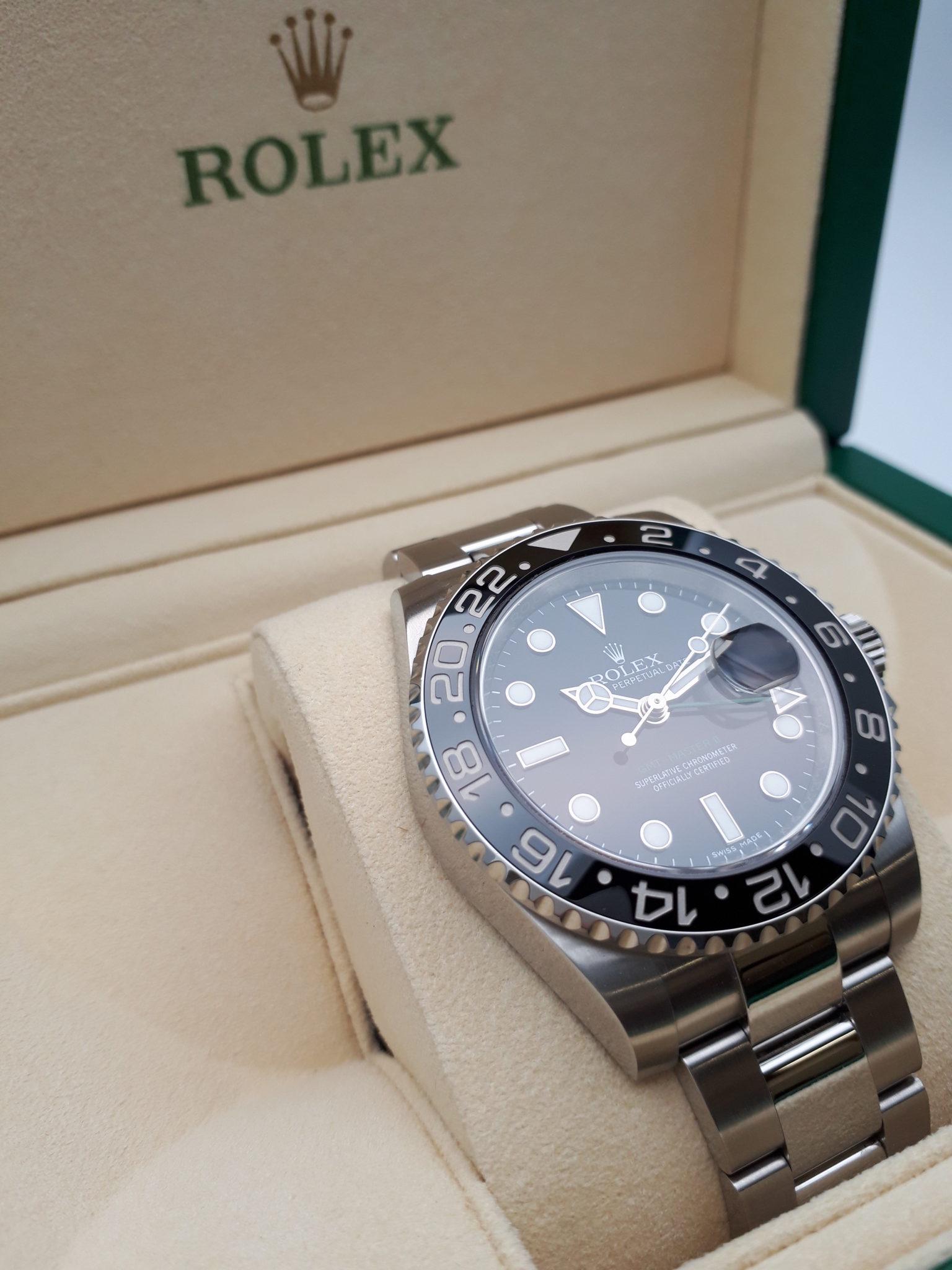 【ROLEX GMTマスター2 116710LN ランダム番】を盛岡市のお客様よりお買取させていただきました。