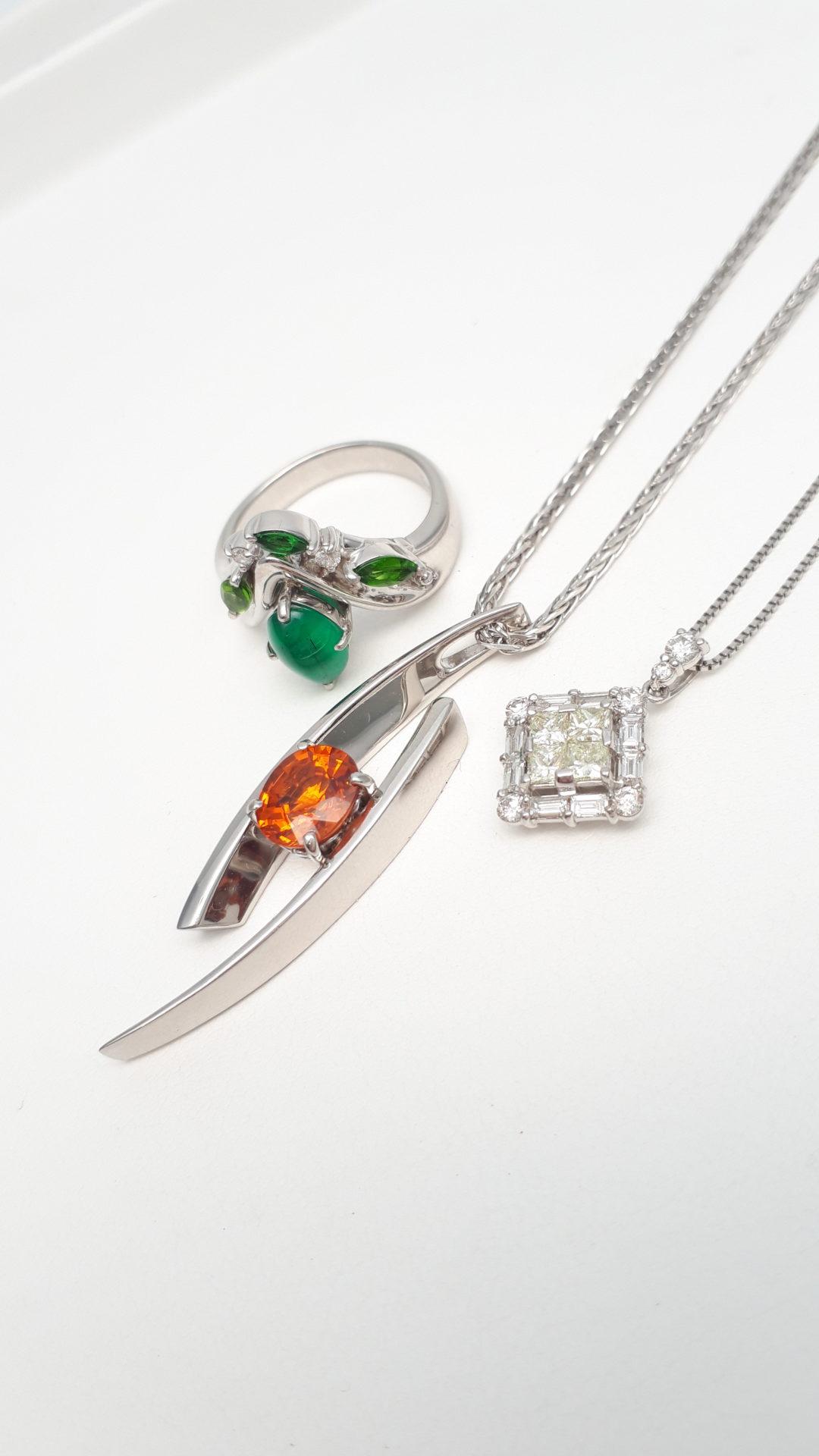 【ジュエリー 買取 盛岡】ダイヤモンド エメラルド ガーネットジュエリーを盛岡市のお客様よりお買い取りさせていただきました!