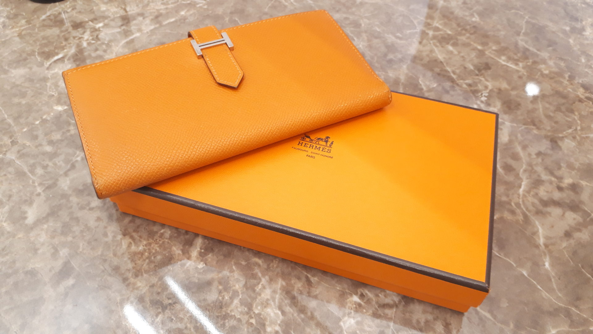 【HERMES ベアン 長財布 038673CK】を盛岡市のお客様よりお買い取りさせていただきました!