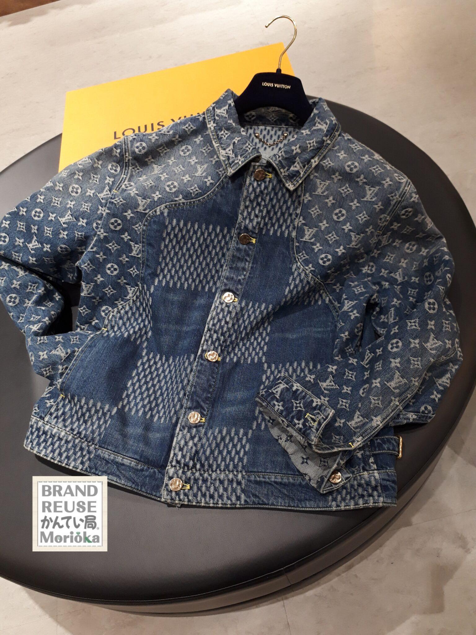 【LOUIS VUITTON ジャイアントダミエウェーブス デニムジャケット サイズ52】を盛岡市のお客様よりお買取させていただきました!