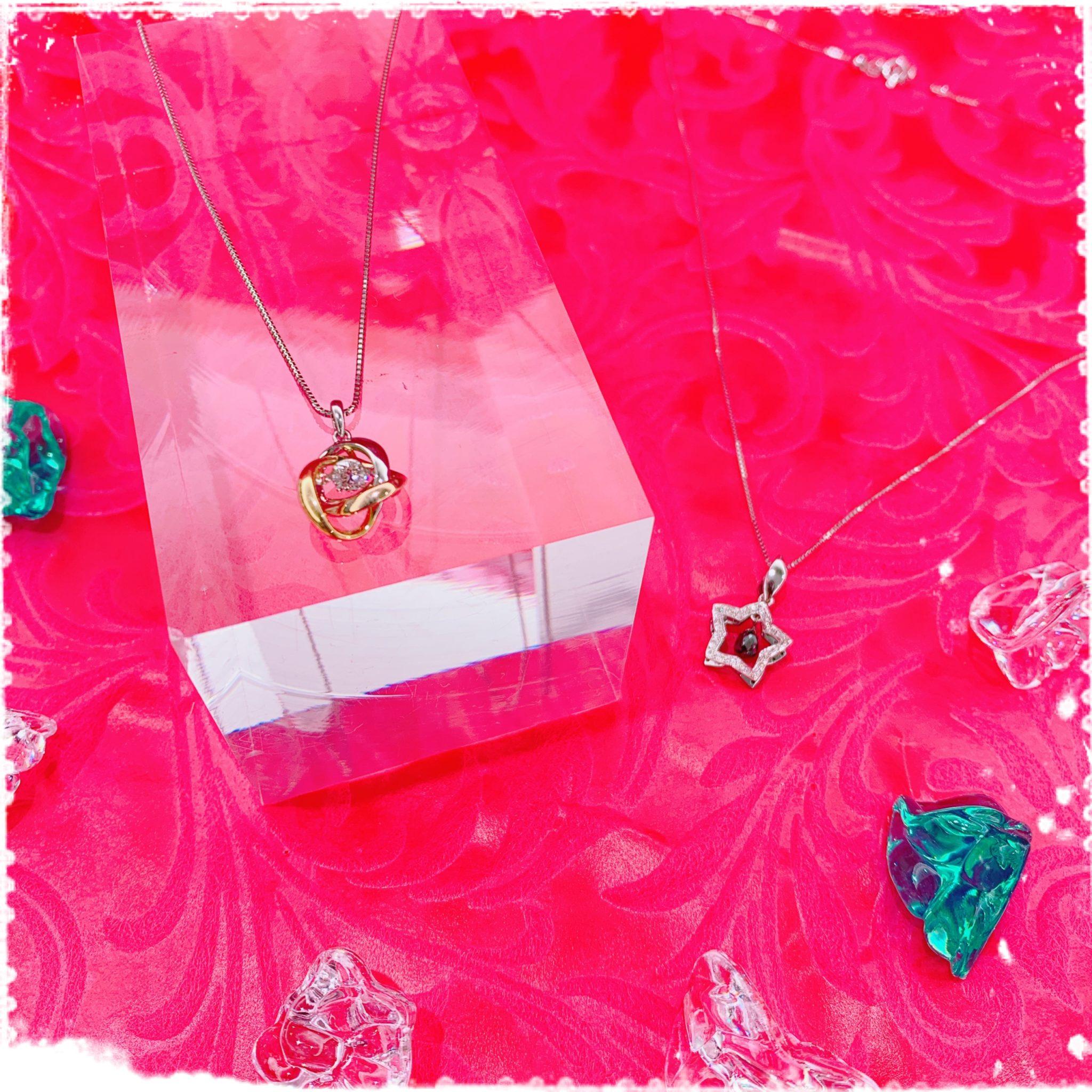 【ダイヤ 販売 盛岡】シンプルだけじゃな~い💎ゆらゆら揺れる遊び心いっぱいのダイヤネックレス