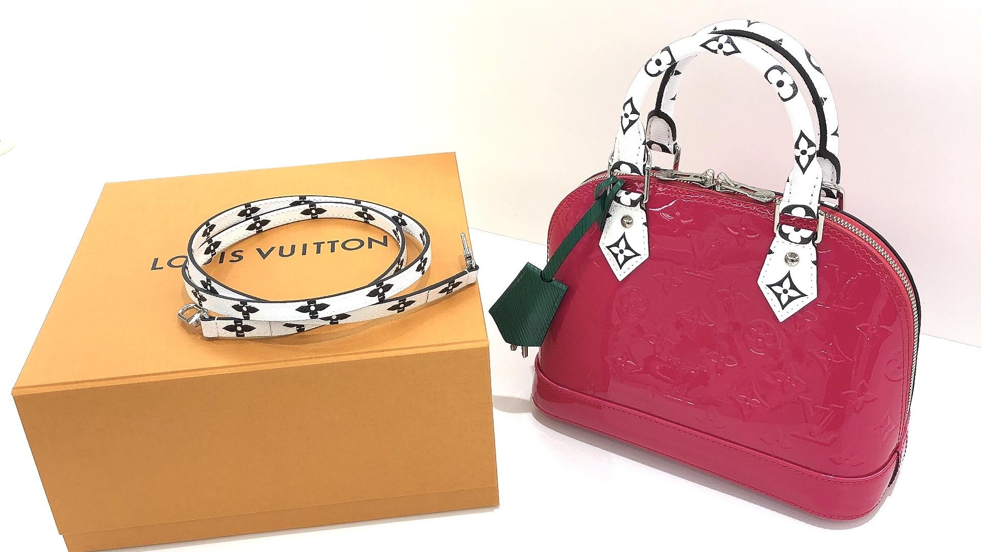 【ブランド品 買取 盛岡】LOUIS VUITTON モノグラム・ヴェルニ アルマBB M90447 お買い取りさせていただきました!