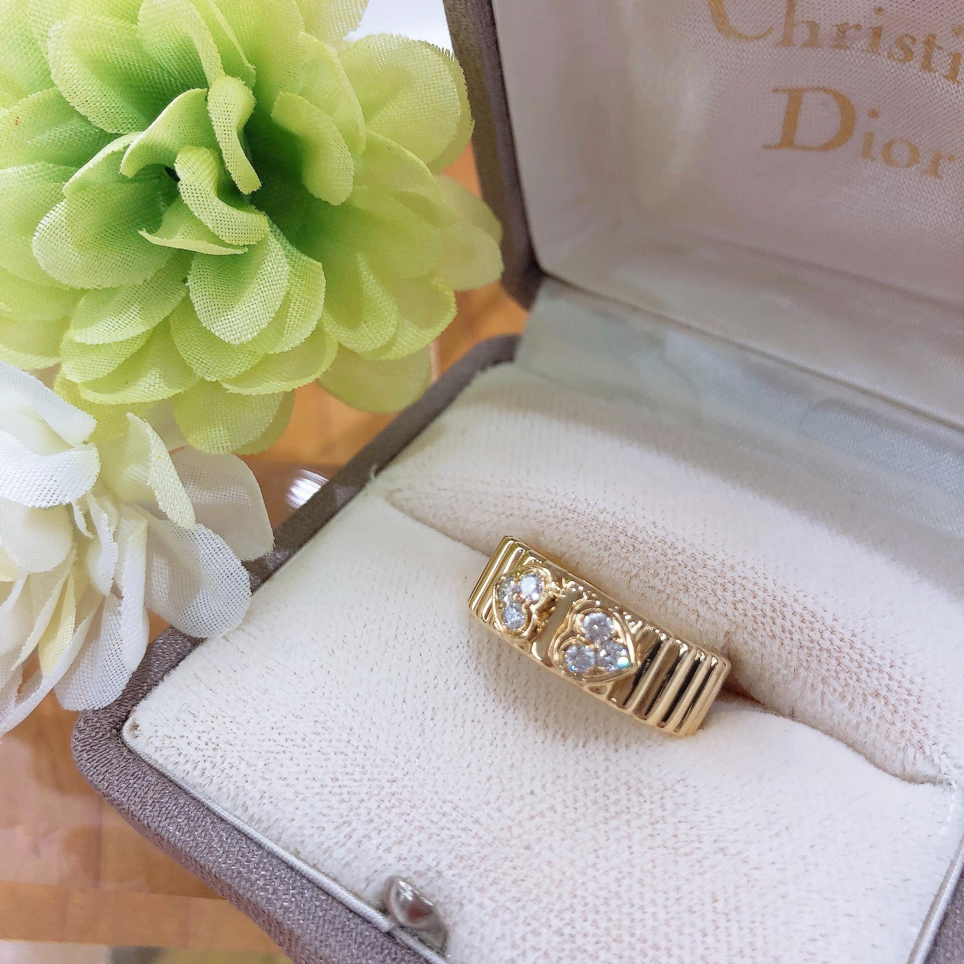 【クリスチャンディオール K18イエローゴールド ダイヤリング】盛岡市のお客様よりお買い取りさせていただきました!