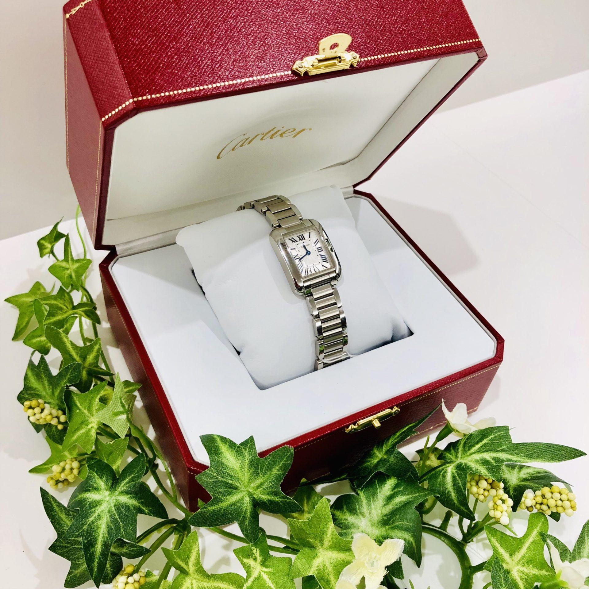 【盛岡 カルティエ 販売】腕時計 タンクアングレーズ パシャC
