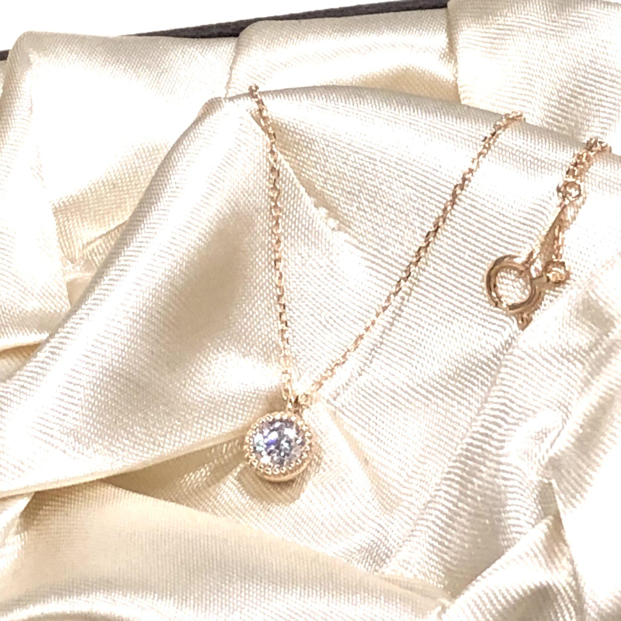 【ジュエリー 買取 盛岡】K18 0.322ctダイヤモンドネックレス をお買取させていただきました!