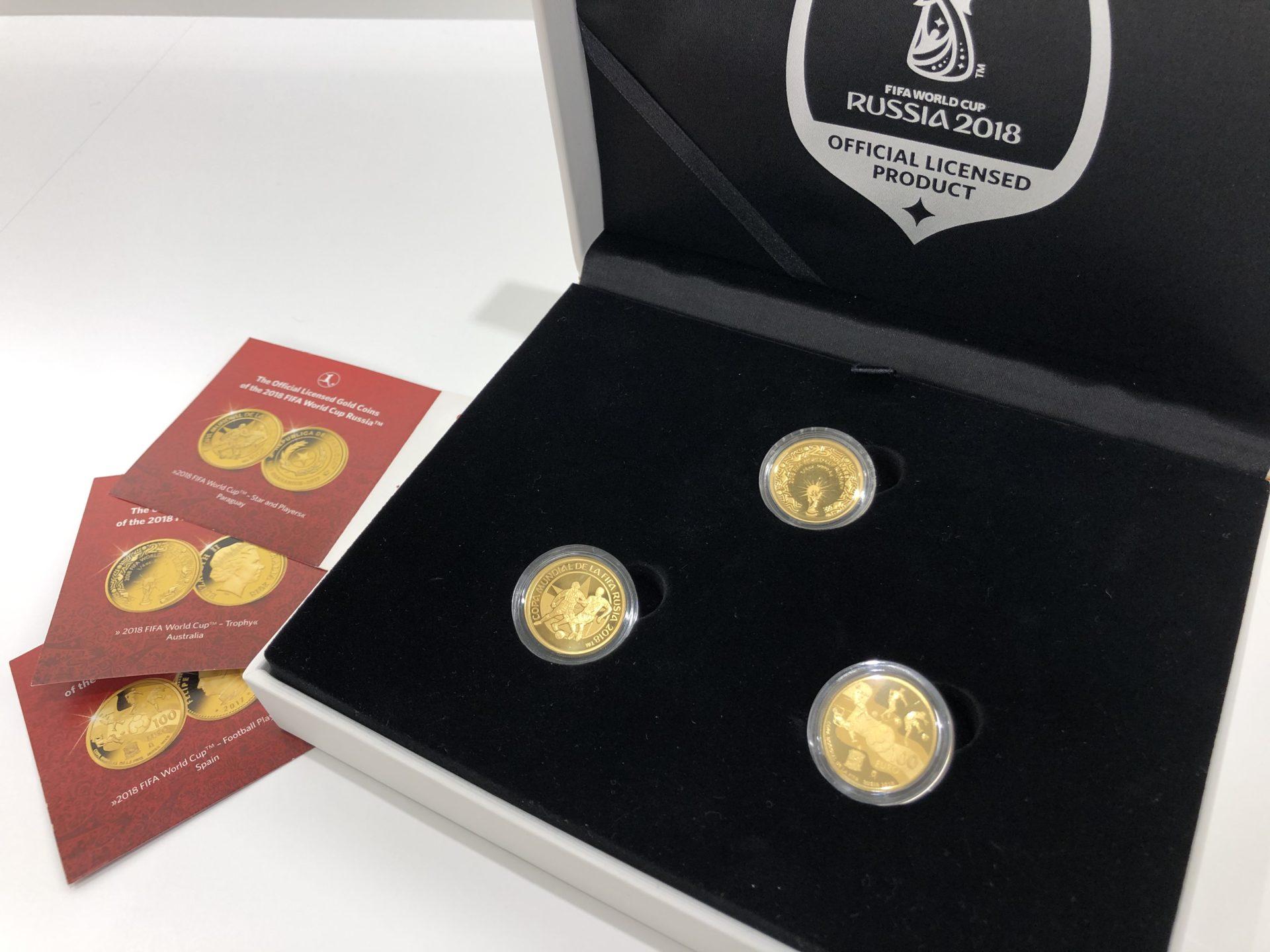 【コイン 買取 盛岡】2018 FIFA ワールドカップ  ロシア大会 公式記念コイン3種セットをお買い取りさせていただきました。