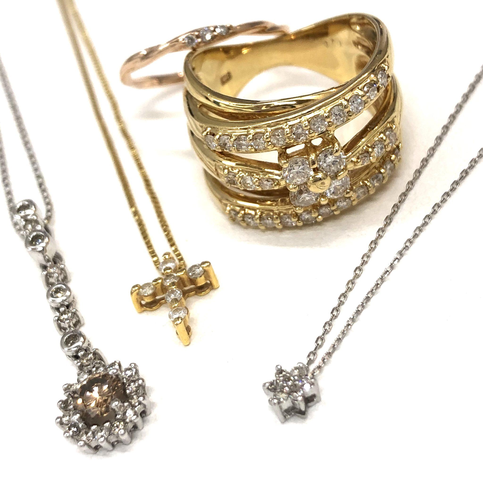 【ジュエリー 買取 盛岡】ダイヤモンドジュエリーお買取させていただきました。