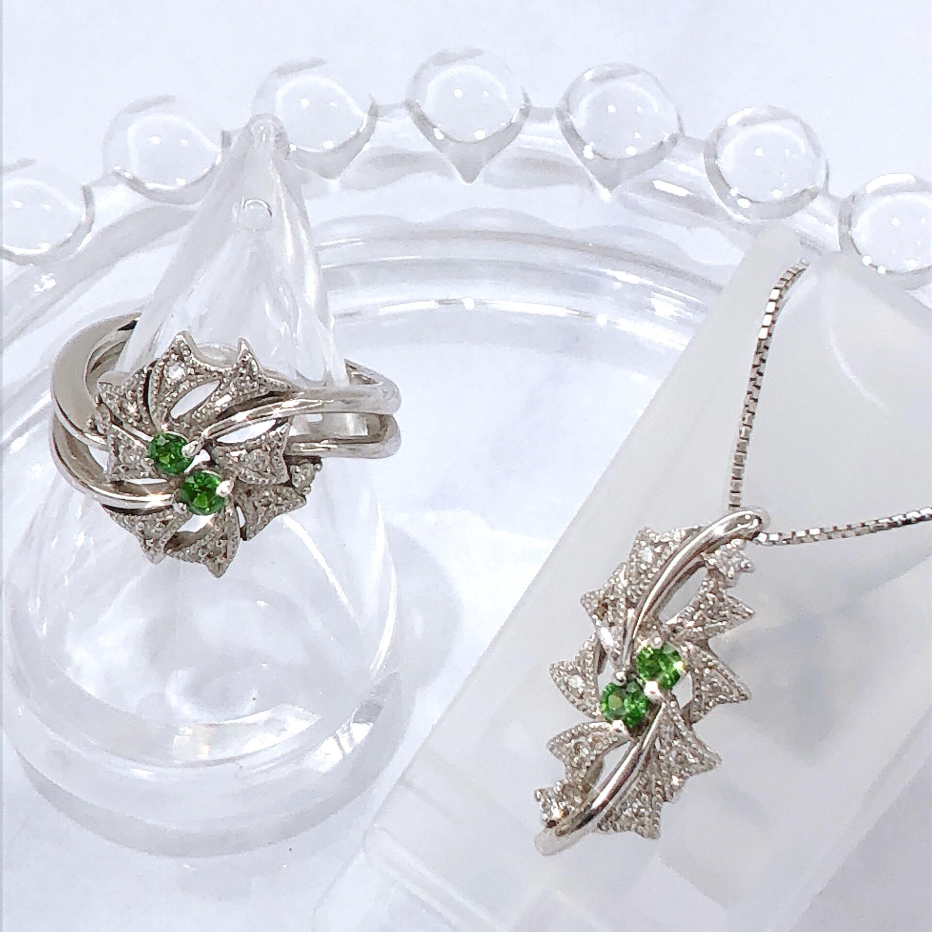 【K18WG ガーネットダイヤリング・ネックレス 】お買取させていただきました!