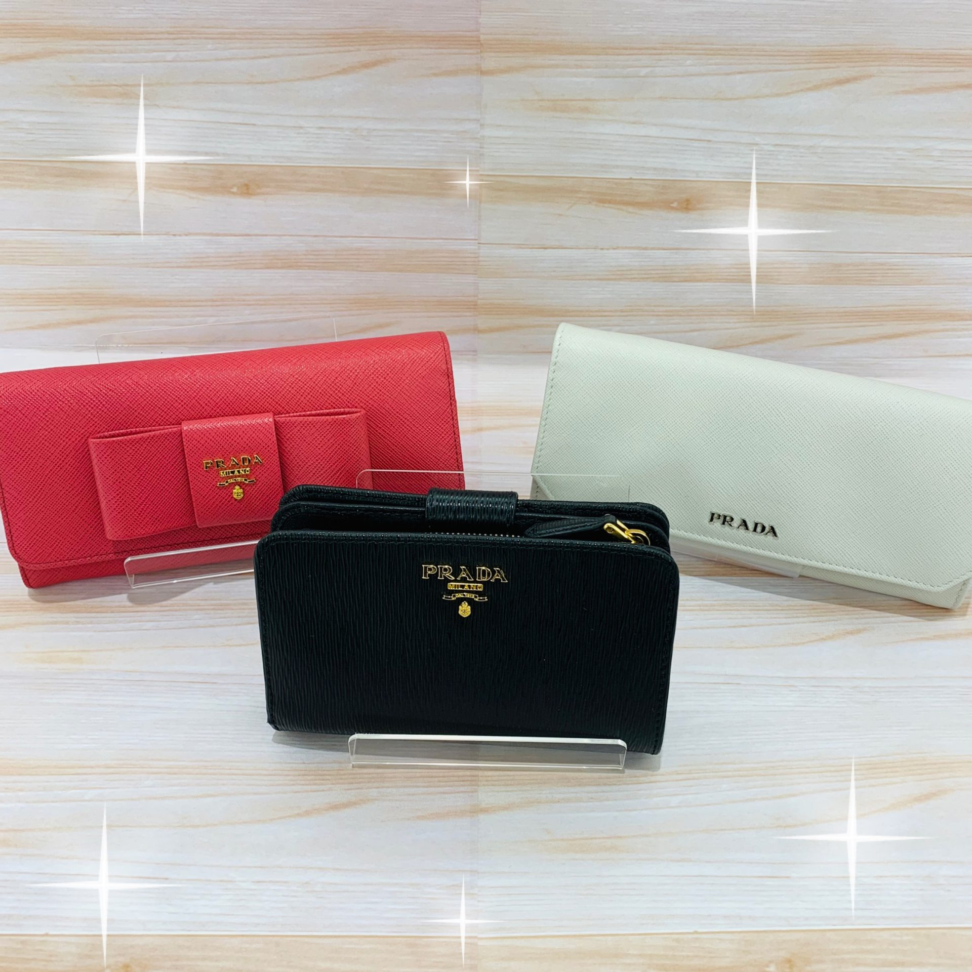 【中古 販売 盛岡】どのカラーがお好みですか♪PRADAの財布
