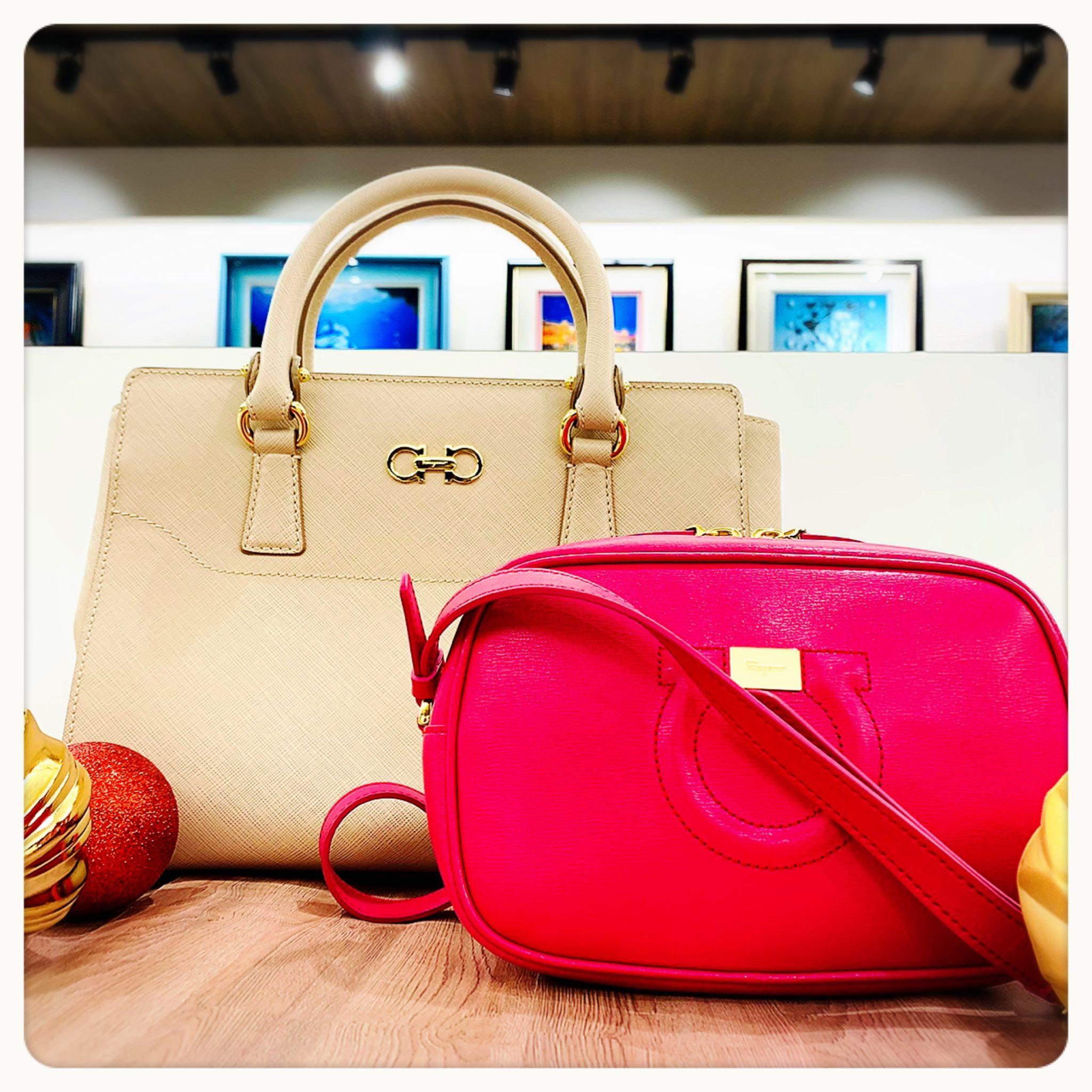 【フェラガモ 販売 盛岡】ピンクで可愛い♡Salvatore Ferragamo フェラガモの2WAYバッグ&ミニポシェット