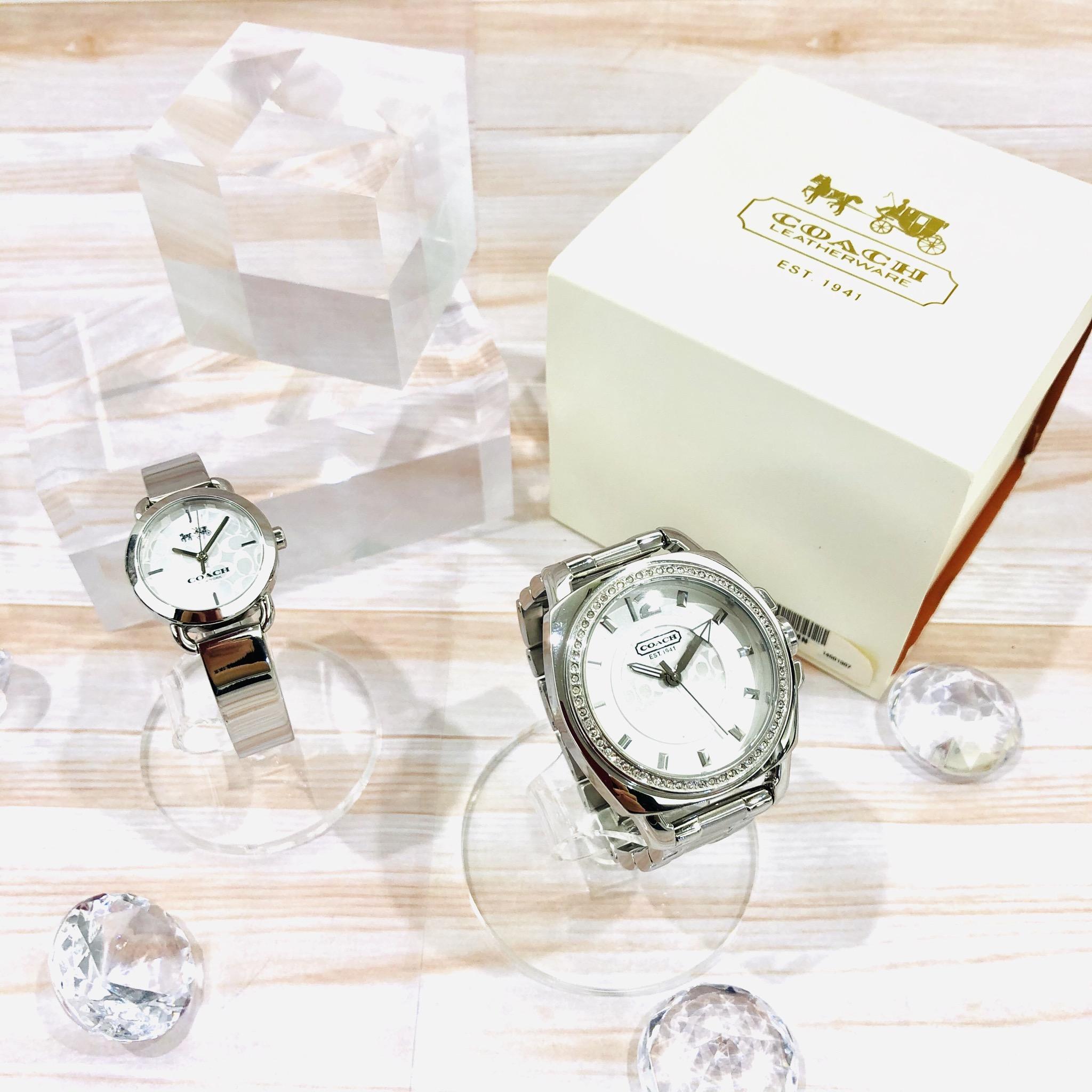 【盛岡 時計 販売】文字盤のシグネチャーが涼やかにきらめく✨コーチ腕時計