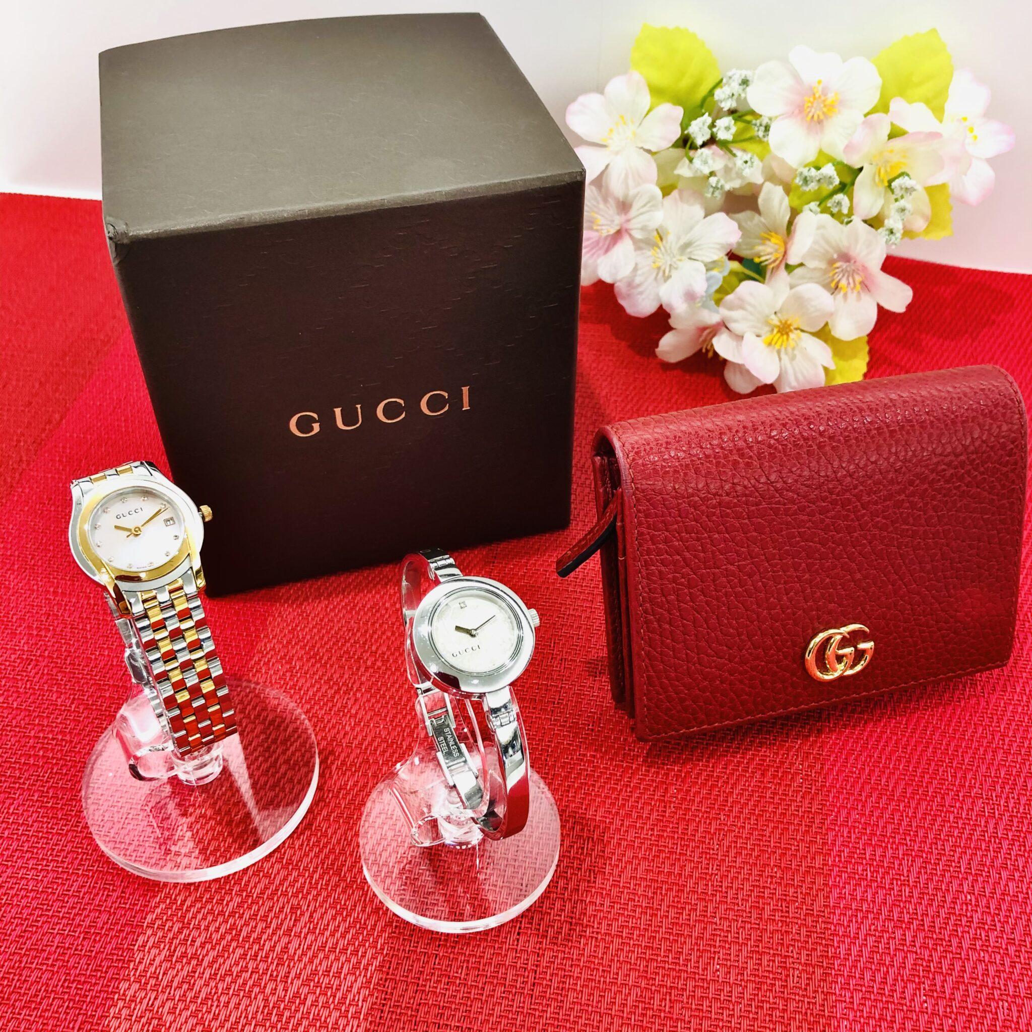 【グッチ 販売 盛岡】憧れのブランド『GUCCI』✨初めてのお買物に時計&ミニウォレットはいかが?