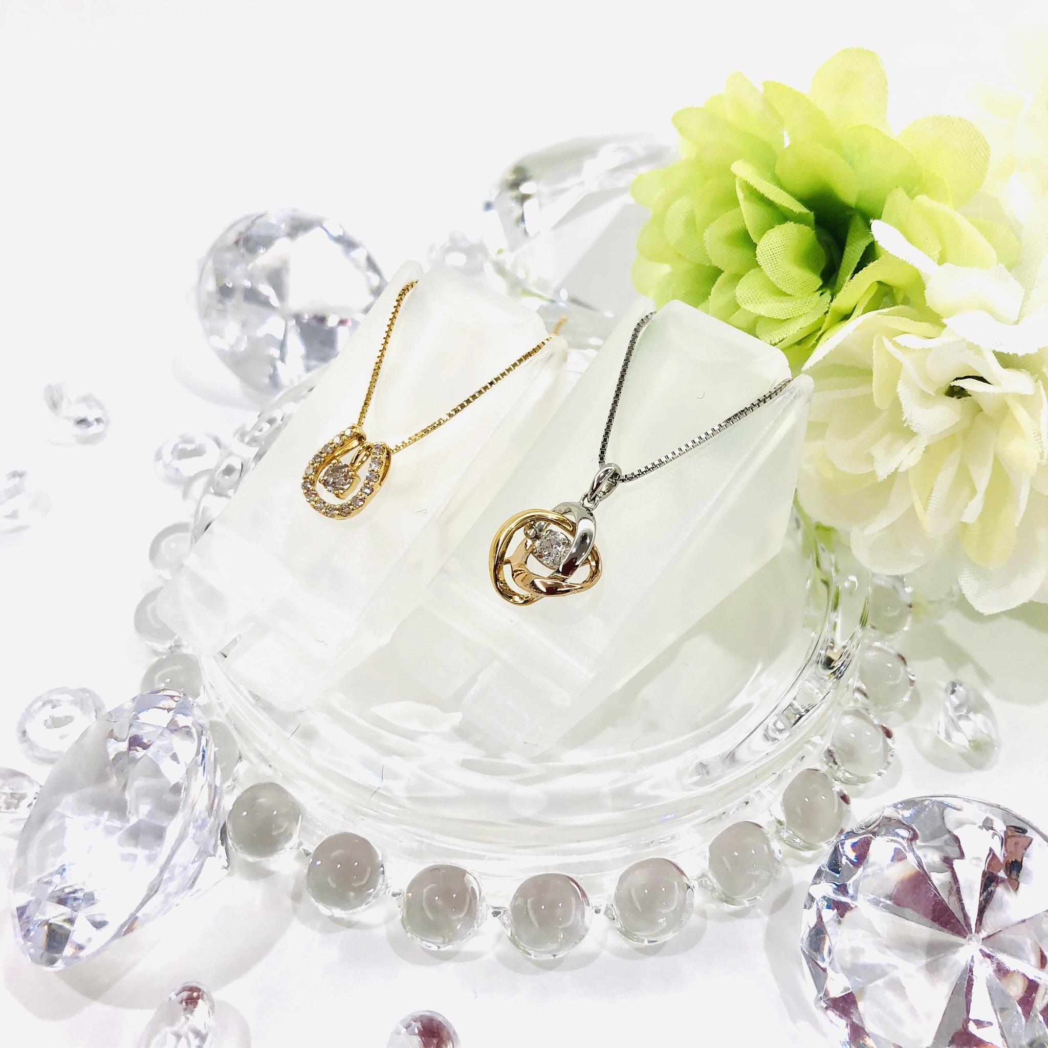 【盛岡 ダイヤモンド 販売】ダイヤの揺らめきが魅力✨ダンシングストーンネックレス