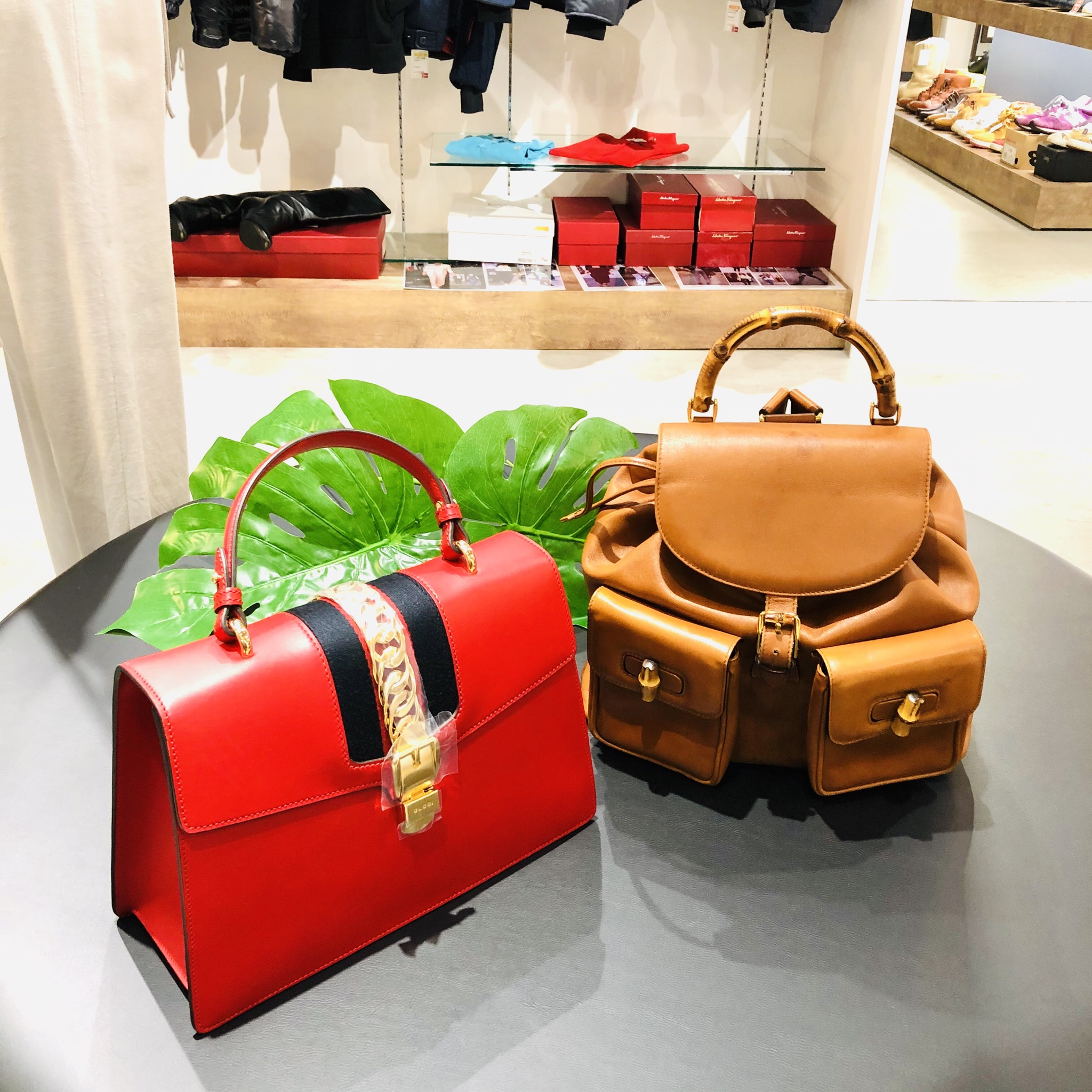 【盛岡 グッチ 販売】秋ファッションに取り入れたい!ハンドルバッグ&バンブーリュック