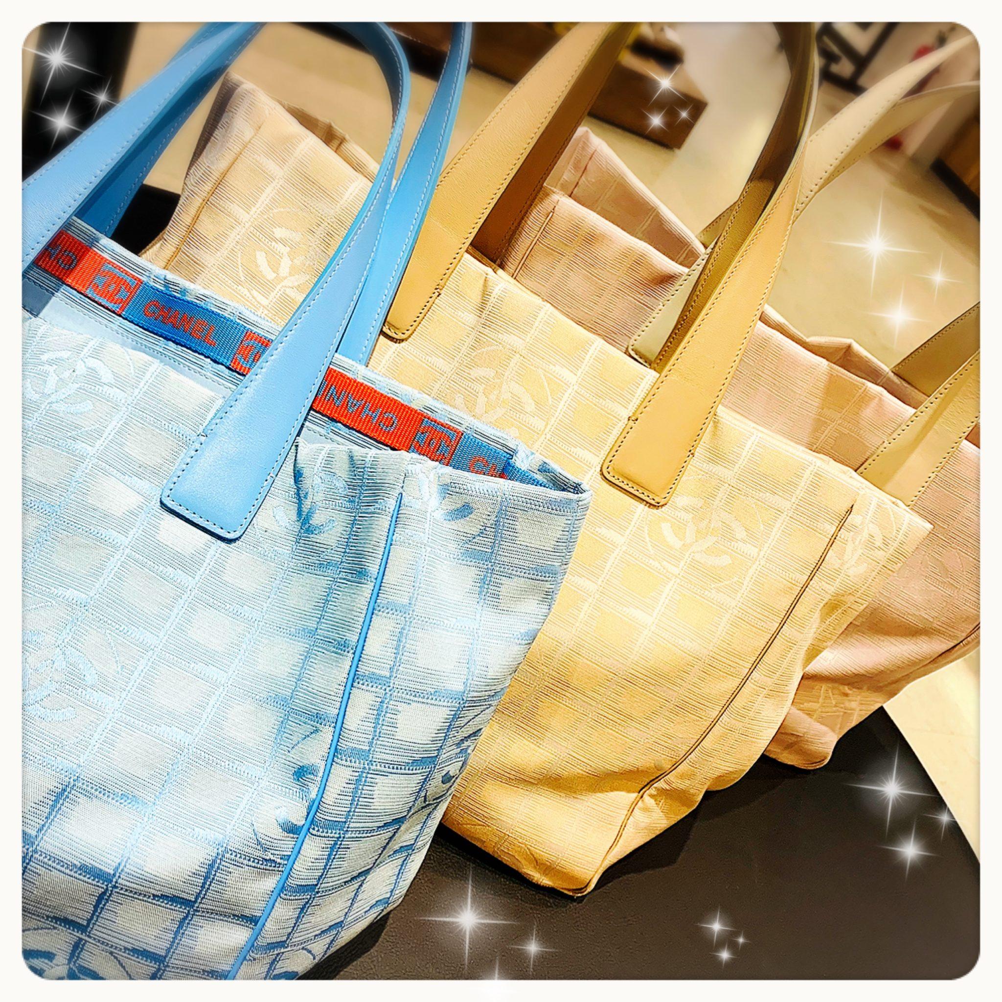 【シャネル 販売 盛岡】カラーも色々♫CHANEL シェネル トラベルライン トートバッグ