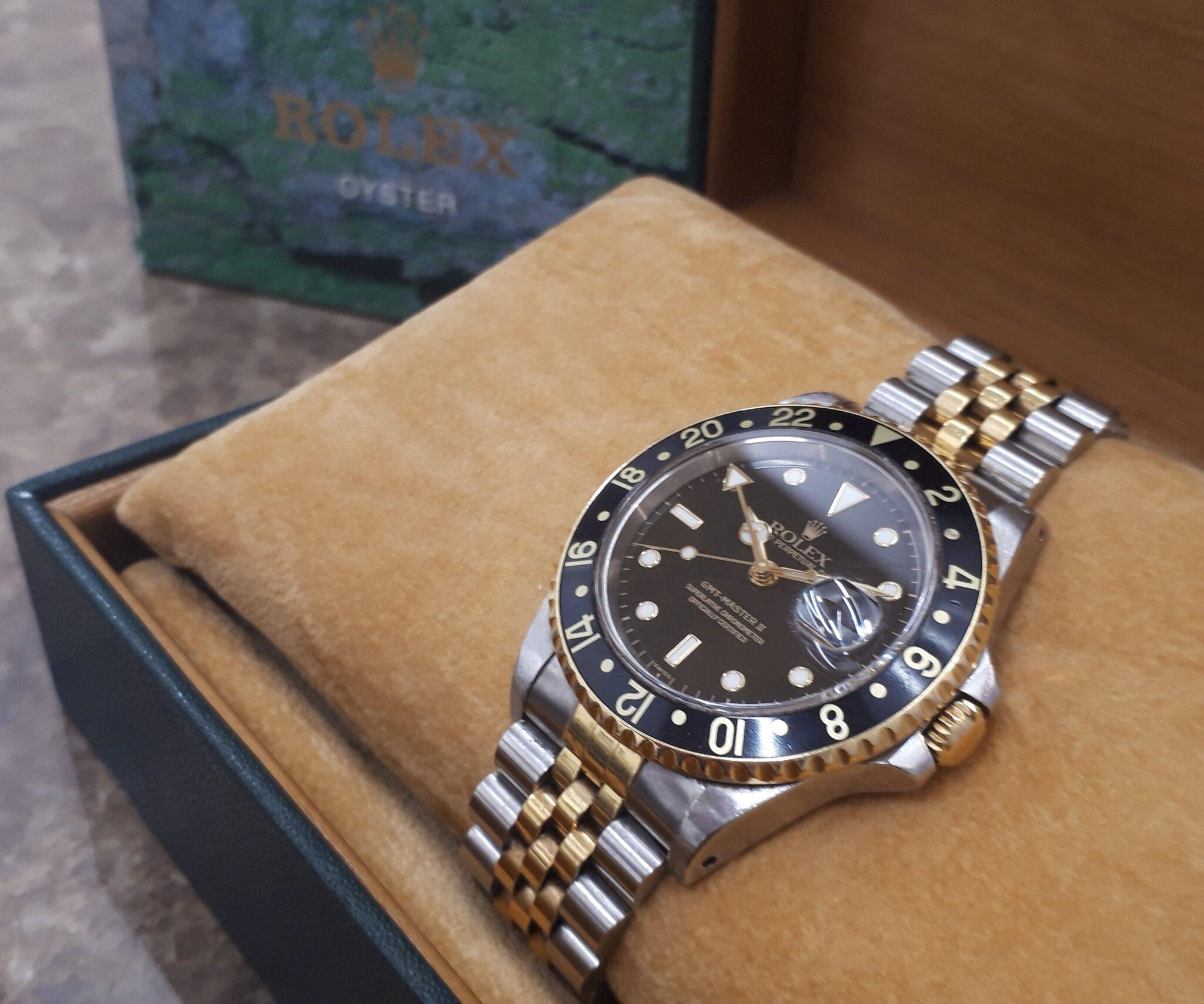 【ROLEX ロレックス 16713 U番 16713 GMTマスター2】を盛岡市のお客様よりお買取させていただきました!