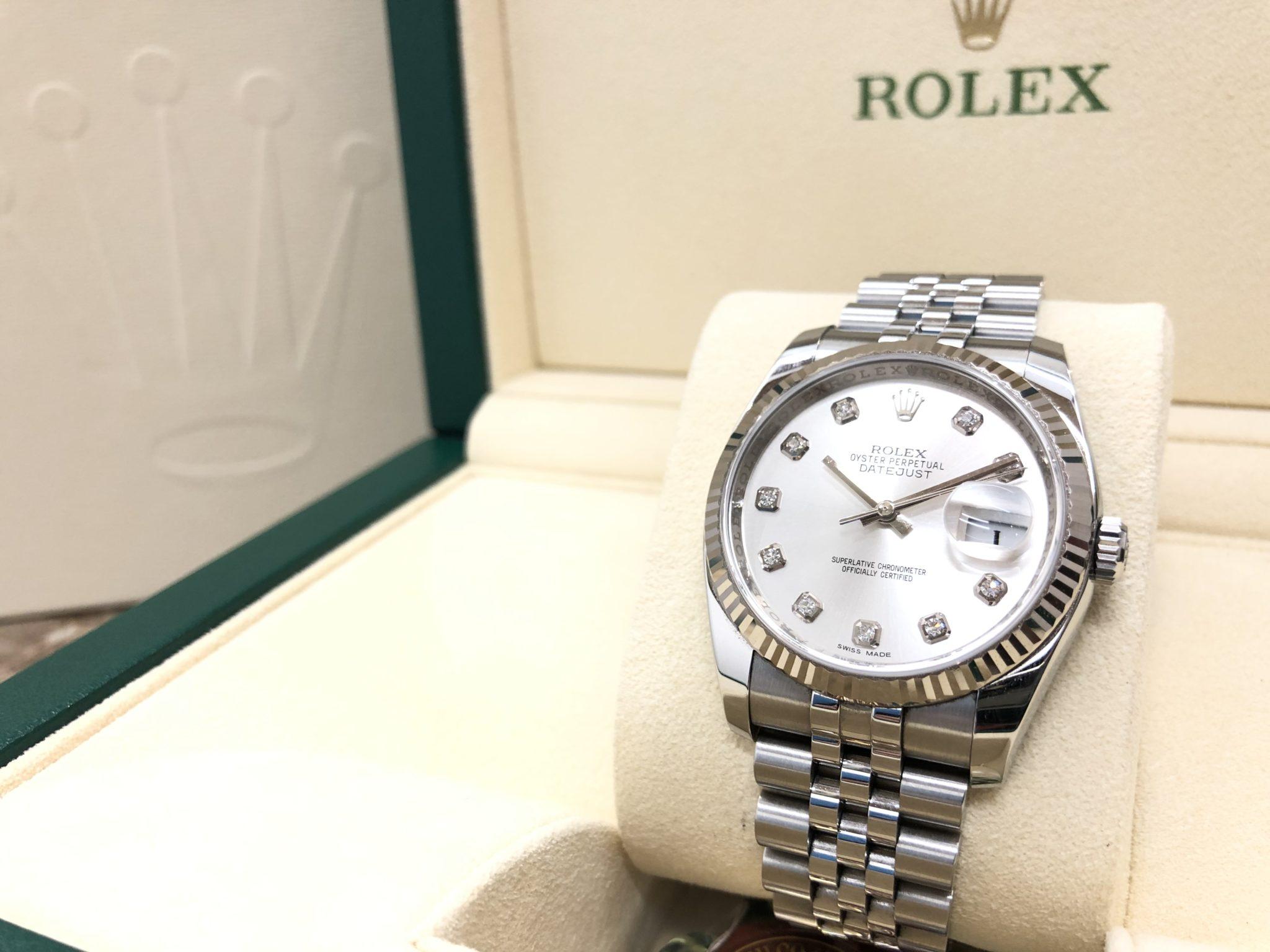 【ROLEX ロレックス デイトジャスト 116234G ランダム番】を盛岡市のお客様より買取させていただきました!